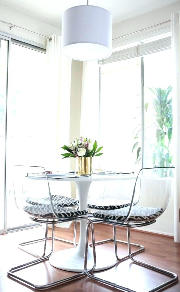 Acrylic Kitchen Table Acrylic Round Dining Table Mesmerizing Clear Intended For Most Popular Clear Plastic Dining Tables (Gallery 17 of 20)
