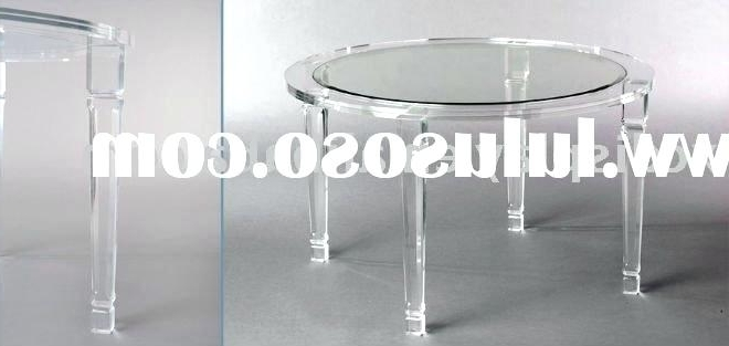Acrylic Round Dining Tables For Most Current Acrylic Round Dining Table Table With Acrylic Cubes Dining Tables (Gallery 10 of 20)