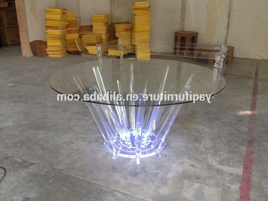 Acrylic Round Dining Tables Pertaining To Most Recently Released Led Acrylic Round Dining Table – Buy Led Acrylic Round Dining Table (Gallery 5 of 20)