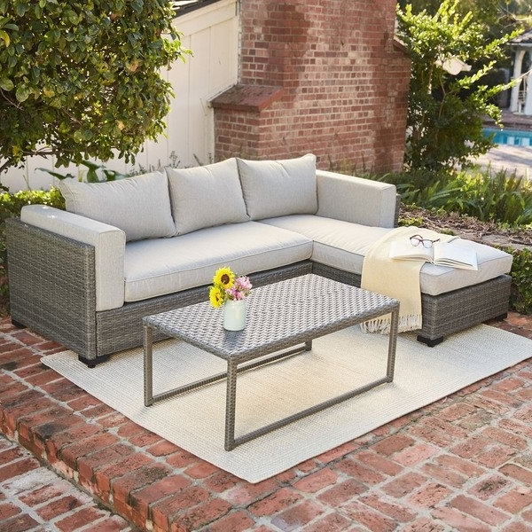 Adeline 3 Piece Sectionals In Most Current Shop Hanover Lenox Hill Aluminum 3 Piece Outdoor Sectional Set (Gallery 13 of 15)