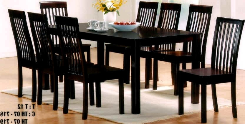 Advantages Of Buying Round Dining Table Set For 8 – Home Decor Ideas Throughout 2017 8 Seater Black Dining Tables (View 8 of 20)
