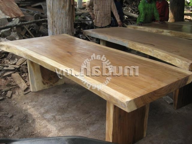 Aipj Acacia Raintree Wood Slab Dining Table – Furniture & Decoration Regarding Widely Used Acacia Dining Tables (Gallery 8 of 20)