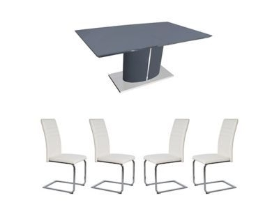 Alcora Dining Chairs Intended For Widely Used 799.00 – Harveys Ramira Extending Dining Table & 4 White Alcora (Gallery 20 of 20)