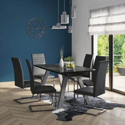 Alcora Dining Chairs Throughout Current Vieux Extending Dining Table & 6 Alcora Chairs – Bonsoon (View 6 of 20)