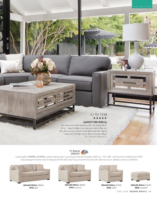Alder 4 Piece Sectionals Regarding Well Known Living Spaces – Fall 2017 – Alder 4 Piece Sectional (Gallery 2 of 15)
