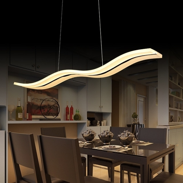 Aliexpress : Buy 40W/56W Led Pendant Lights Modern Kitchen Throughout Fashionable Led Dining Tables Lights (Gallery 3 of 20)