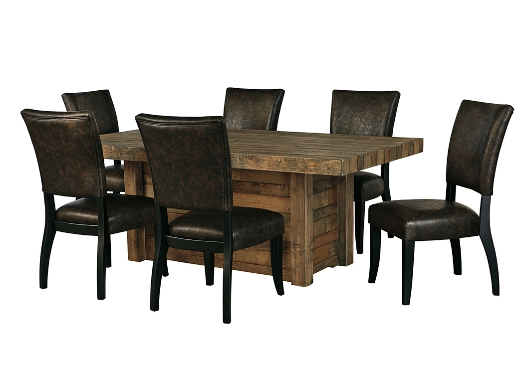 All Star Furniture Sommerford Brown Rectangular Dining Room Table W Regarding Most Recently Released Craftsman 9 Piece Extension Dining Sets With Uph Side Chairs (View 3 of 20)