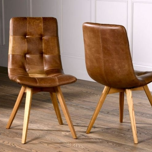 Allegro Dining Chair Intended For Well Known Brown Leather Dining Chairs (Gallery 9 of 20)