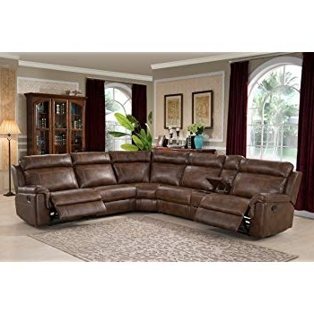 Amazon: Catnapper Catalina Leather Reclining Sectional With Regard To Newest Jackson 6 Piece Power Reclining Sectionals (View 7 of 15)