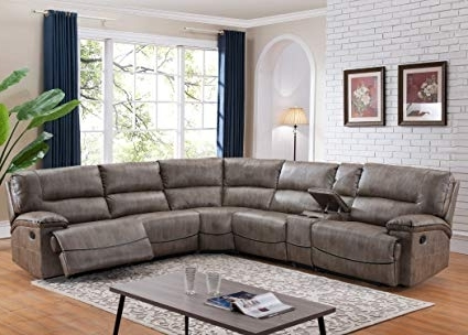 Amazon: Christies Home Living Donovan 6 Piece Sectional With 3 Throughout Most Recent Haven 3 Piece Sectionals (View 3 of 15)