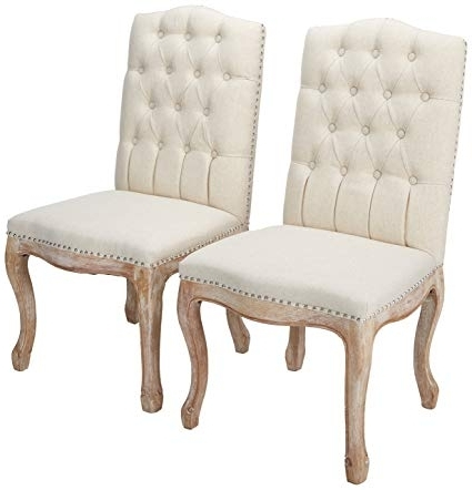 Amazon – Christopher Knight Home 214308 Jolie Beige Linen Dining Intended For Well Liked Dining Chairs (Gallery 1 of 20)