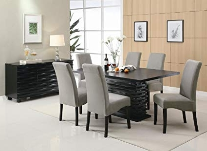 Amazon – Coaster Home Furnishings Stanton Contemporary Dining With Regard To Most Recent Dining Tables With Grey Chairs (View 1 of 20)