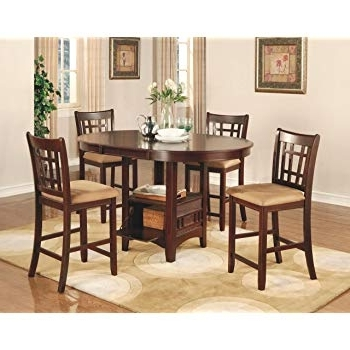 Amazon – Coaster Lavon 5 Piece Counter Table And Chair Set In Intended For Newest Pierce 5 Piece Counter Sets (View 1 of 20)