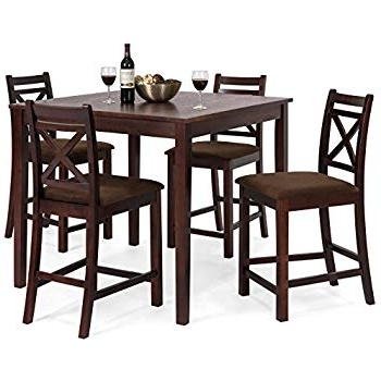 Amazon – Coaster Normandie 5 Piece Counter Height Table Set With Regard To Preferred Cora 5 Piece Dining Sets (Gallery 2 of 20)