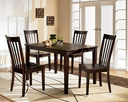 Amazon – Contemporary Hyland 5 Piece Dining Set – Table & Chair Sets Within Trendy Hyland 5 Piece Counter Sets With Stools (View 2 of 20)