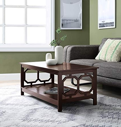 Amazon: Convenience Concepts 203220Es Omega Coffee Table Within Most Recent Lindy Espresso Rectangle Dining Tables (Gallery 13 of 20)