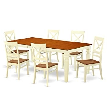 Amazon: East West Furniture Lgqu7 Bmk W 7 Piece Dining Table Set In Fashionable Logan 6 Piece Dining Sets (View 3 of 20)