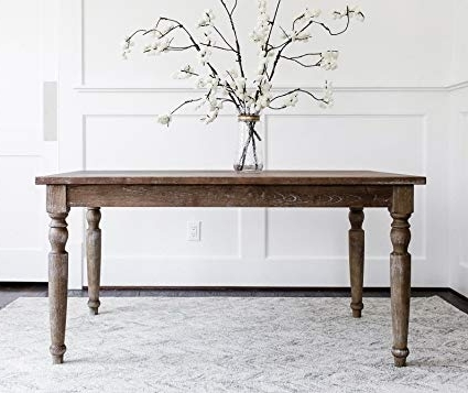 Amazon – Edloe Finch – Rustic Modern Dining Table – French Intended For Trendy Modern Dining Tables (View 3 of 20)