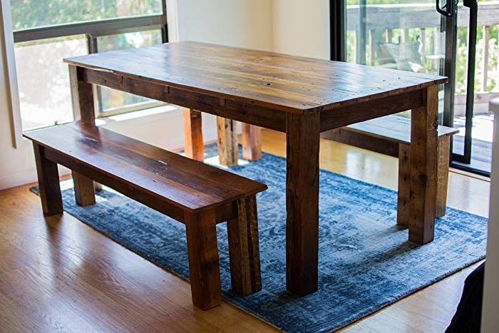 Amazon: Farm House Dining Table: Handmade In Fashionable Barn House Dining Tables (Gallery 7 of 20)