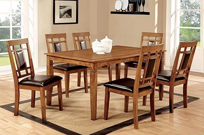 Amazon – Furniture Of America Lazio 7 Piece Transitional Dining With Regard To Fashionable Lazio Dining Tables (Gallery 15 of 20)