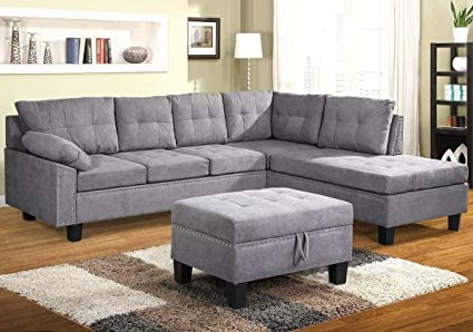Amazon: Harper & Bright Designs Sectional Sofa Set With Chaise Intended For Well Known Harper Down 3 Piece Sectionals (View 4 of 15)