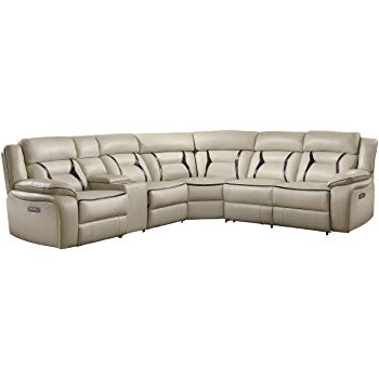 Amazon: Homelegance Amite 6 Piece Power Reclining Sectional Sofa Regarding Trendy Declan 3 Piece Power Reclining Sectionals With Left Facing Console Loveseat (Gallery 1 of 15)