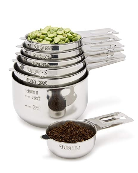 Amazon: Measuring Cups 7 Piece With 1/8 Cup Coffee Scoop For Favorite Market 7 Piece Counter Sets (Gallery 17 of 20)