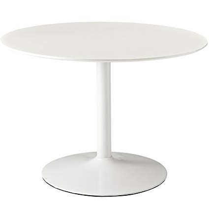 Amazon – Modway Revolve Contemporary Modern Round Dining Table Throughout Recent White Circular Dining Tables (View 4 of 20)