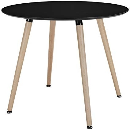 Amazon – Modway Track Circular Dining Table, Black – Tables Throughout Recent Circular Dining Tables (Gallery 15 of 20)