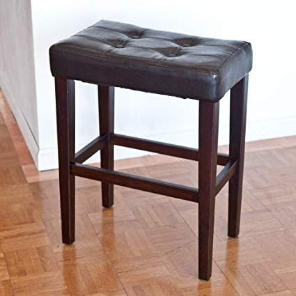 Amazon: Palazzo 26 Inch Saddle Counter Stool – Brown: Kitchen Regarding Most Recent Palazzo 7 Piece Dining Sets With Pearson White Side Chairs (View 2 of 20)