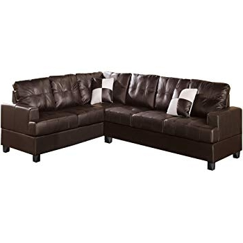 Amazon: Poundex Bobkona Karen Bonded Leather 2 Piece Reversible Intended For Best And Newest Karen 3 Piece Sectionals (View 2 of 15)