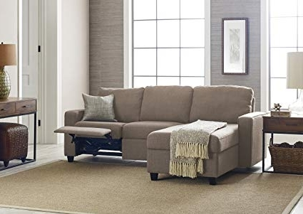 Amazon: Serta Palisades Reclining Sectional With Left Storage Inside Most Current Jobs Oat 2 Piece Sectionals With Left Facing Chaise (View 12 of 15)