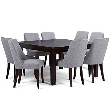 Amazon: Simpli Home Walden 9 Piece Dining Set, Grey: Kitchen With Fashionable Walden 7 Piece Extension Dining Sets (View 4 of 20)