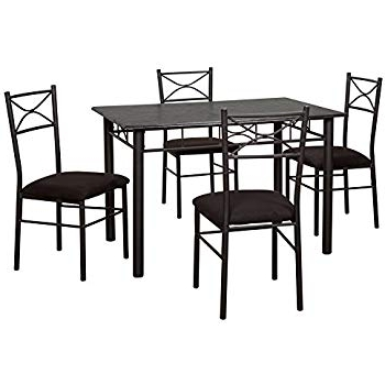 Amazon – Target Marketing Systems 5 Piece Valencia Dining Set Regarding 2018 Valencia 5 Piece Round Dining Sets With Uph Seat Side Chairs (View 6 of 20)