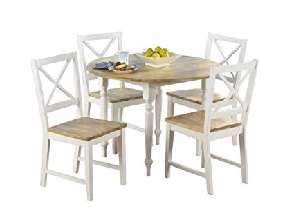 Amazon – Target Marketing Systems Tms 5 Piece Virginia Dining Within Most Popular Jaxon Grey 7 Piece Rectangle Extension Dining Sets With Wood Chairs (View 15 of 20)