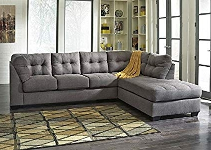 Amazon: The Roomplace Marlo Charcoal 2 Pc. Sectional With Full In Most Popular Arrowmask 2 Piece Sectionals With Sleeper & Right Facing Chaise (Gallery 1 of 15)