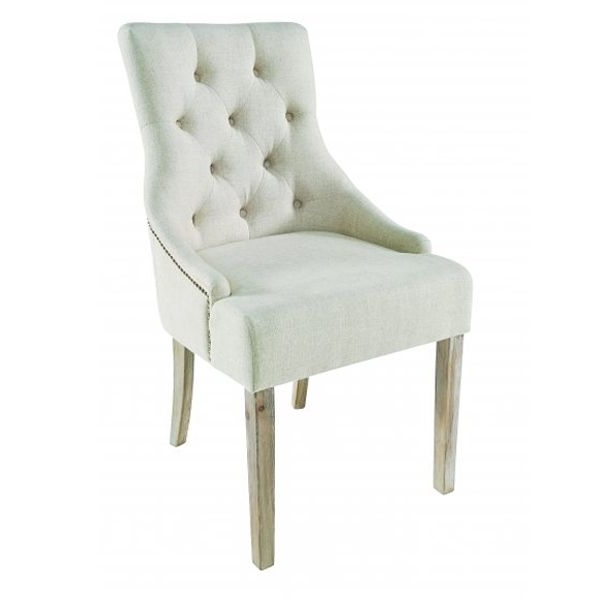 Amelia Button Back Dining Chair In Cream Fabric Designed And Made Intended For Popular Button Back Dining Chairs (Gallery 6 of 20)