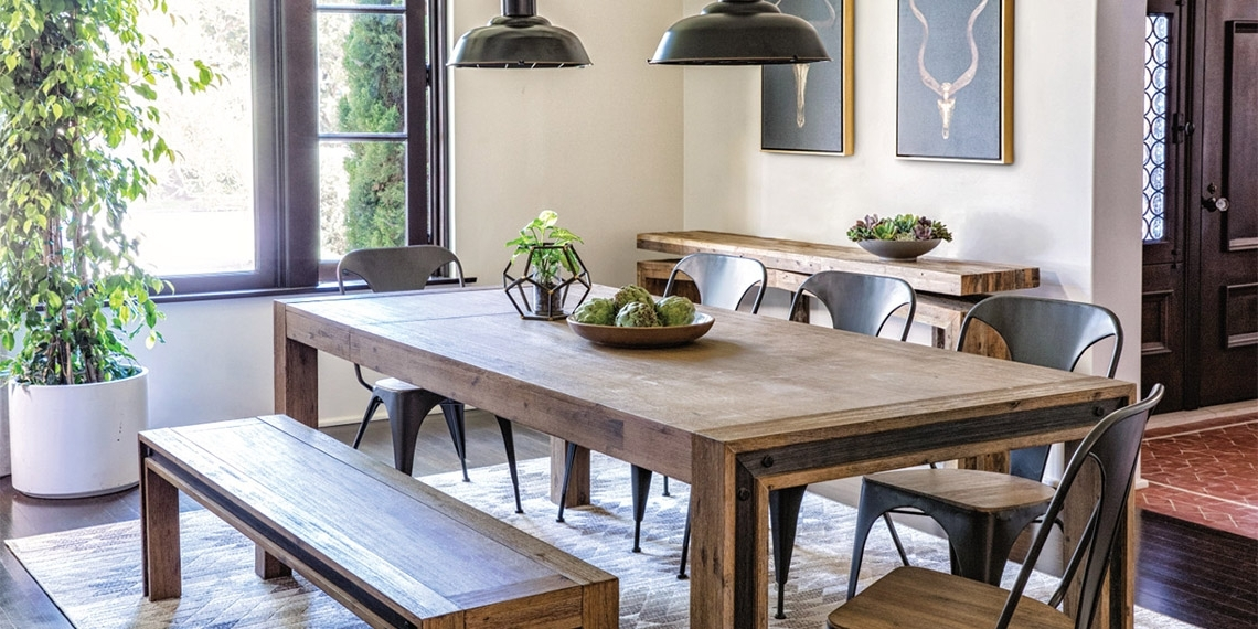 Amos Extension Dining Tables For Popular Industrial Dining Room With Amos Extension Dining Table (View 2 of 20)