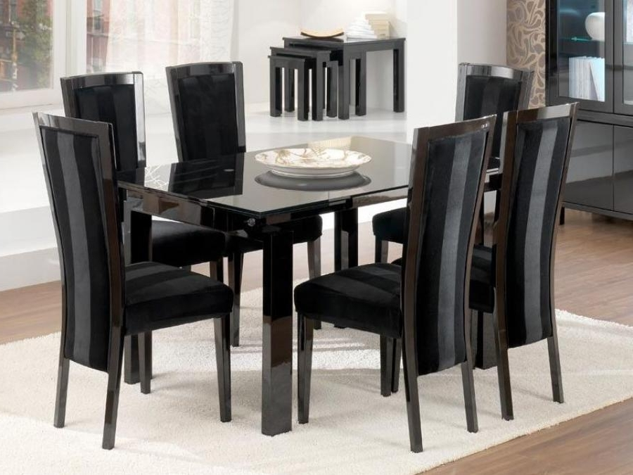 Amuzing Black Dining Table Pertaining To Favorite Black Extendable Dining Tables Sets (View 19 of 20)
