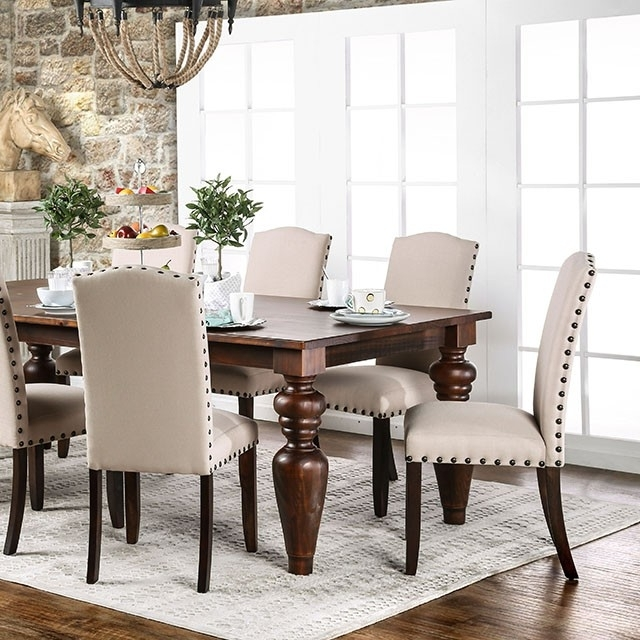 Anapolis Transitional Dark Walnut Dining Table Set – Shop For Intended For Most Current Walnut Dining Table Sets (Gallery 7 of 20)