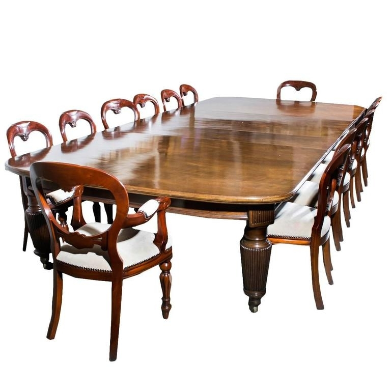 Antique Extending Dining Table 14 Chairs, Circa 1880 At 1Stdibs Pertaining To Most Recent Extending Dining Tables With 14 Seats (View 2 of 20)