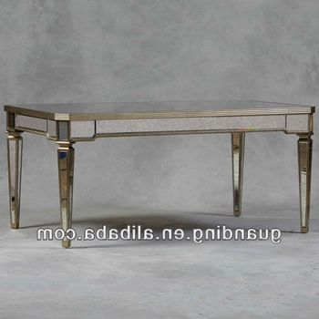 Antique Mirrored Glass Dining Table – Buy Glass Mirror Bedside Within Current Antique Mirror Dining Tables (View 3 of 20)