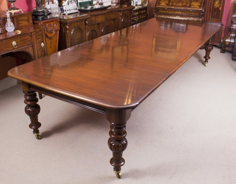 Antique Victorian Dining Table (View 19 of 20)