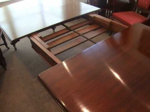 Antique Victorian Mahogany Extending Dining Table – Youtube Inside Best And Newest Mahogany Extending Dining Tables (View 2 of 20)