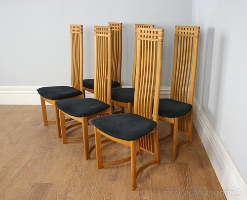Antiques Atlas – Six Actona Art Deco Oak High Back Dining Chairs Pertaining To Newest High Back Dining Chairs (View 3 of 20)