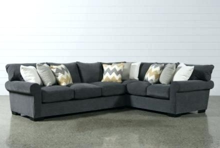 Aquarius Dark Grey 2 Piece Sectionals With Laf Chaise For Best And Newest Living Spaces Sectional Couches – Imarq (Gallery 14 of 15)