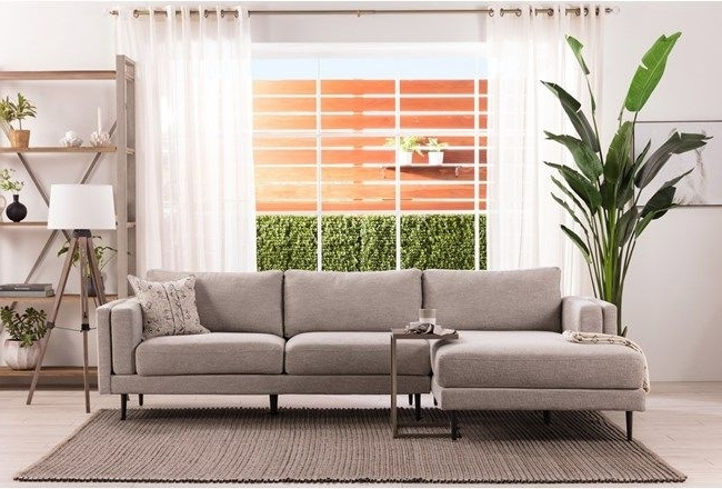 Aquarius Light Grey 2 Piece Sectional W/laf Chaise (View 2 of 15)