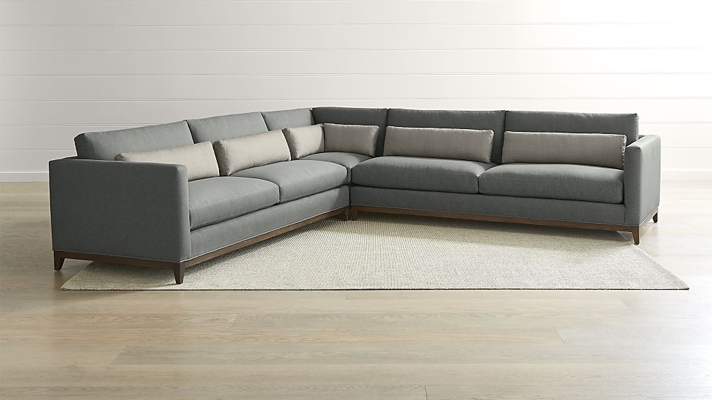 Aquarius Light Grey 2 Piece Sectionals With Raf Chaise Inside Most Popular Harper Foam 3 Piece Sectional W/raf Chaise (Gallery 14 of 15)