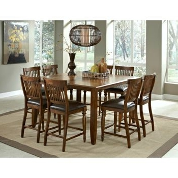 Arlington 9 Piece Counter Height Dining Set From Costco $1699. 60X42 For Recent Craftsman 9 Piece Extension Dining Sets With Uph Side Chairs (Gallery 9 of 20)