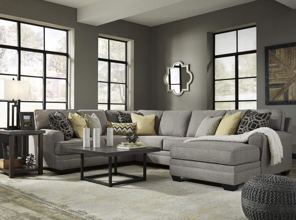 Arrowmask 2 Piece Sectionals With Laf Chaise Within Well Known Cresson Pewter 4 Pc Laf Chaise Sectional 54907/16/34/77/ (View 15 of 15)